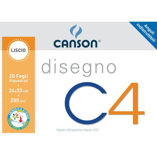 CARTELLA DISEGNO Canson FA4 - 24X33 FG.20 Liscio RIQUADRATO