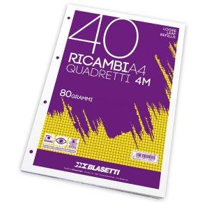 RICAMBI FORATI A4 DA 4MM.