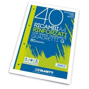RICAMBI FORATI A4 RINFORZATO 4MM.