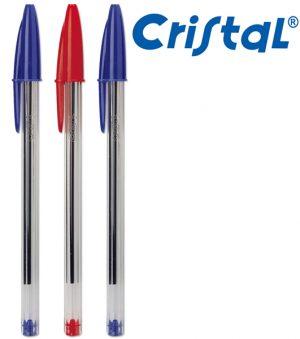 SET 3 PEZZI - SFERA BIC CRISTAL - 2 BLU, 1 ROSSO